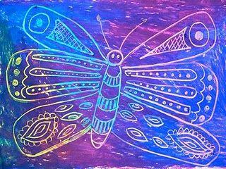 Butterfly- Oil pastel reveal