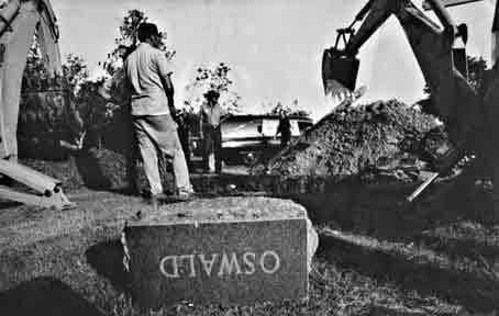 The way for the exhumation was cleared when a temporary restraining order issued by a local judge  expired at midnight. Oswald's brother, Robert, who lives in Wichita Falls, had sought in court for  some time to block the exhumation.
