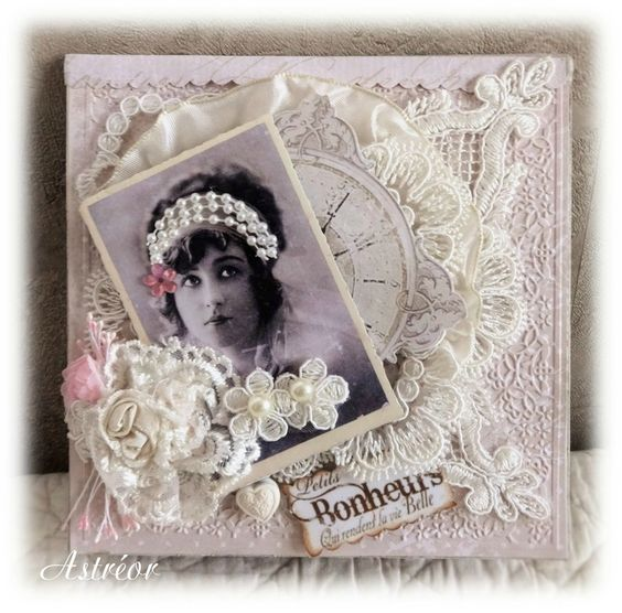 Carte vintage shabby chic:
