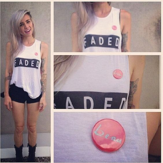 Lights in our Love Child faded tank!