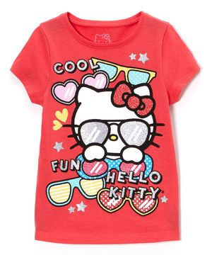 This Hello Kitty Paradise Pink 'Hello Kitty' Tee - Toddler & Girls by Hello Kitty is perfect! #zulilyfinds