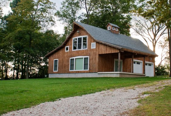 Barn Home With Attached Garage And Open Porch Www