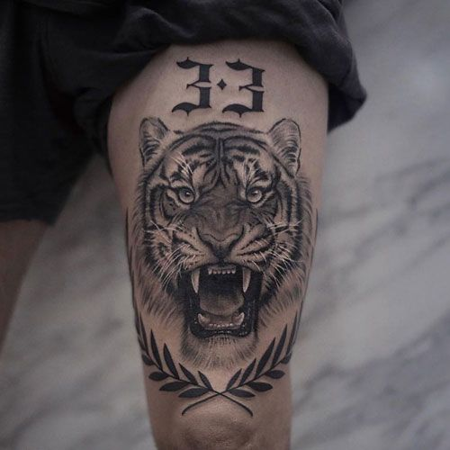 101 Badass Tattoos For Men Cool Designs Ideas 2020 Guide Tattoos For Guys Badass Tiger Tattoo Thigh Lion Tattoo