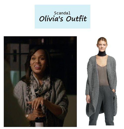 "On the blog: Olivia Pope's (Kerry Washington) oversize cocoon cardigan sweater   Scandal - ""No Sun on the Horizon"" (Ep. 313) #tvstyle #tvfashion #outfits #fashion #gladiators"