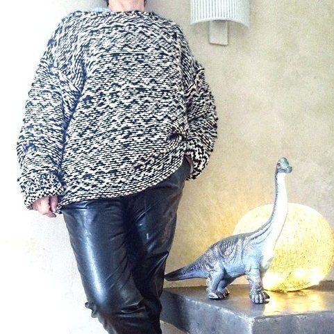 Bien Au Chaud Pour L Hiver Gros Pull Jacquard Isabel Marant Et Pantalon H M En Simil Cuir Pull Neuf Avec Etiquette En Vente Men Sweater Isabel Marant Men