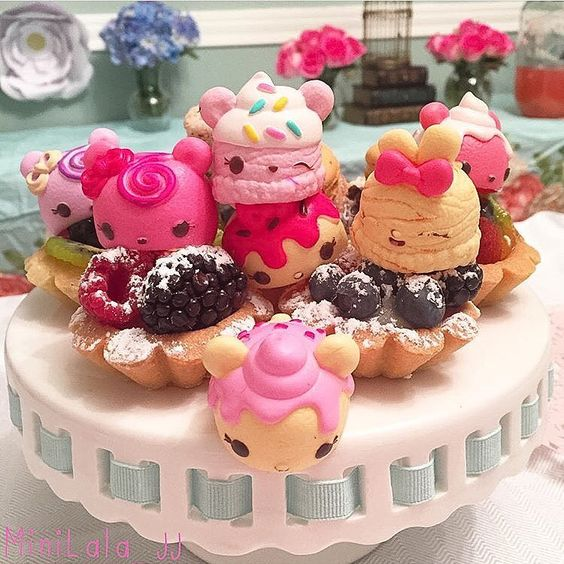 Num Noms are adorable decorations for all of the desserts at a birthday party! Place them near your cakes, cupcakes, cookies and more to add a bit of fun to the festivities!: