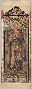 St. Philip, Representing Hope: Design for a Stained Glass Window, First Presbyterian Church, Flemington, New Jersey (one of a set of seven).  Art Object | The Metropolitan Museum Mobile