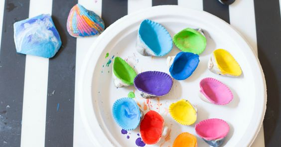 Melted Crayon Sea Shells