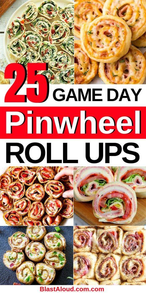 25 Pinwheel Appetizers For Game Day: Pinwheel Roll Ups