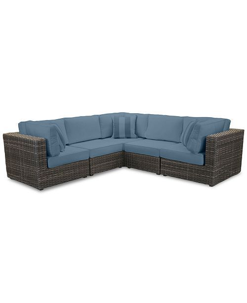 Furniture Viewport Outdoor 5 Pc Modular Seating Set 3 Corner Units And 2 Armless Units With Custom Sunbrella Cushions Created For Macy S Reviews Furnit Sunbrella Cushions Comfy Living Room Furniture Corner Unit