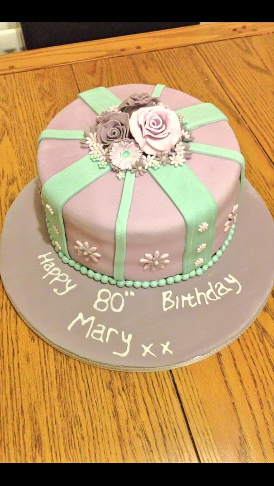 Vintage 80th Birthday Cake 80th Birthday Party Ideas ...