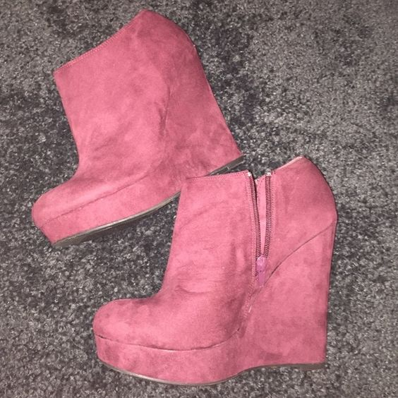 Forever 21 Burgundy Booties NWT. Love these but I suck in heels and have no clue why I bought them, lol. No trades, just looking to sell :) Forever 21 Shoes