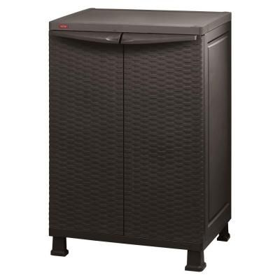 Keter 26 In X 39 In Freestanding Plastic Rattan Base Cabinet Base Cabinets Home And The O 39 Jays