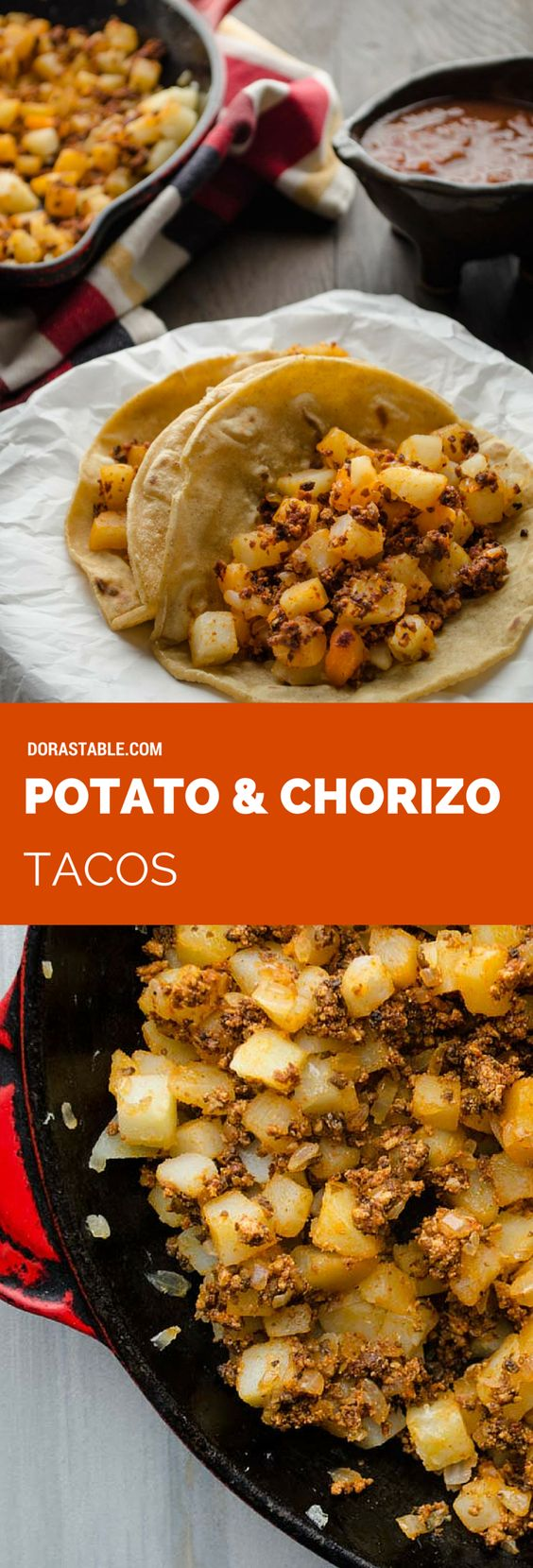 chorizo potato tacos chorizo and potato tacos breakfast tacos with ...
