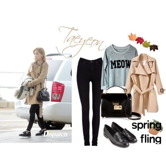 SNSD Taeyeon by stylekpops on Polyvore featuring ファッション, Lee, Monsoon, Rebecca Minkoff, airportfashion, Snsd and taeyeon