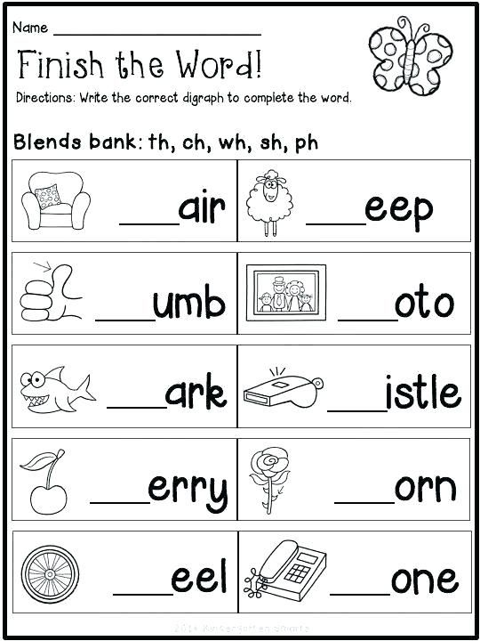 Reading Blends Worksheets For Kindergarten Free Pdf Download