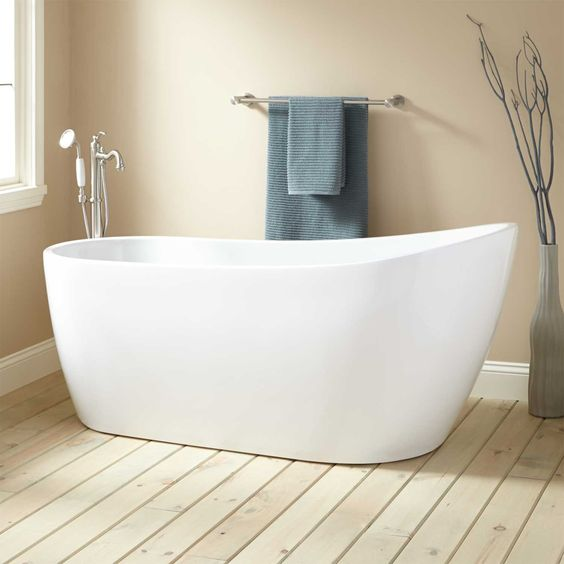 Sheba Acrylic Slipper Tub Insulation Master Bath And