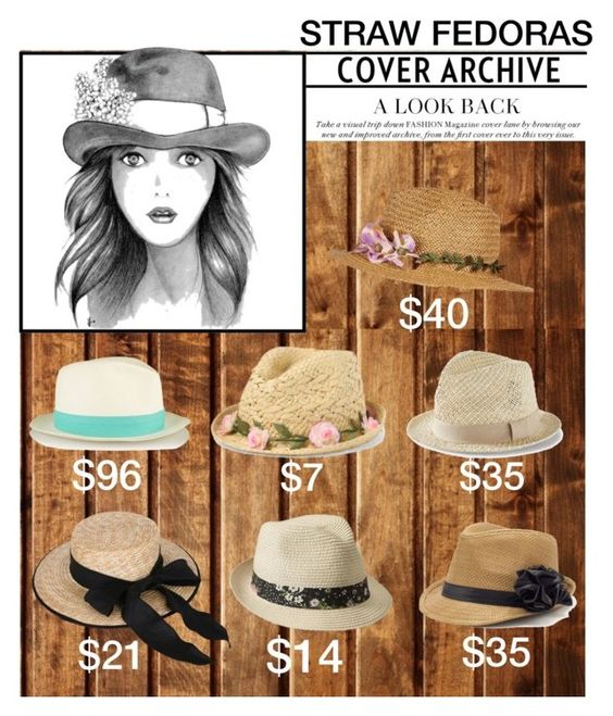 """Straw Fedoras"" by melliflusous ❤ liked on Polyvore"