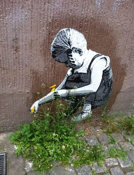 27 Pieces Of Street Art That Interact With Nature Guerrilla & Urban Gardening: