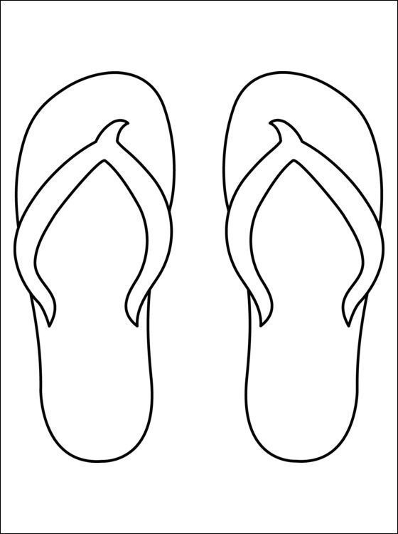 Kleurplaat Met Een Slipper Flip Flop Craft Clip Art Coloring Pages