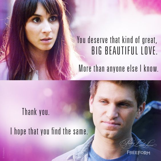 "S7 Ep10 ""The DArkest Knight"" - #Spoby will always be our endgame. 👫 #PLL #PLLDeathTrap"