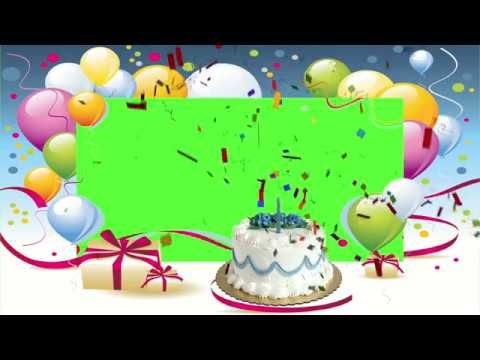Amazing Free Green Screen Happy Birthday Footage Include Sound