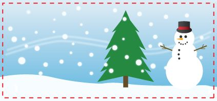Snowman Coupon or Gift Tag Template by phillipwnd