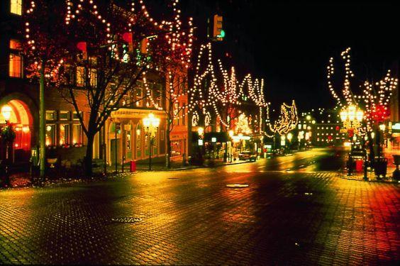 Main Street, Bethlehem, PA decorated for Christmas