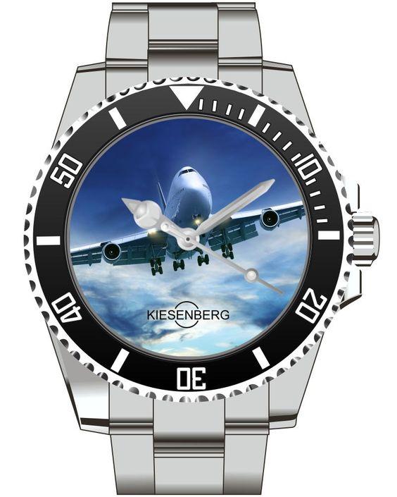 Jumbo Jet Flugzeug - KIESENBERG ® Uhr 2529 von UHR63 auf Etsy