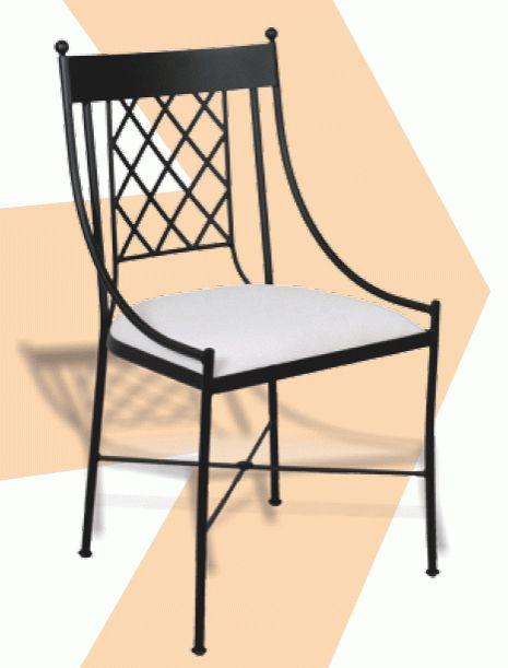 Silla de forja sillas de fierro pinterest - Sillas de hierro ...