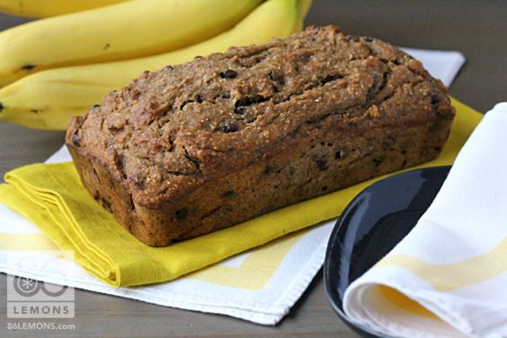 Healthy Banana Bread (vegan, gluten-free, oil-free)  86lemons.com