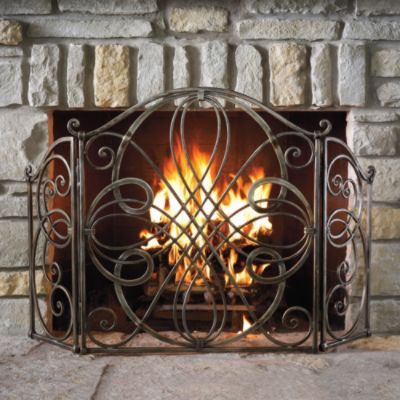 Volterra Fireplace Screen Probably would not have much use