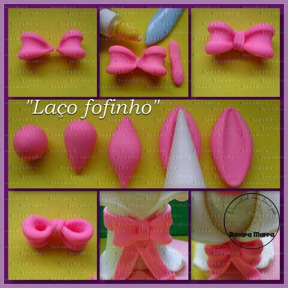 Fimo Make A Bow And Bow Tutorial On Pinterest