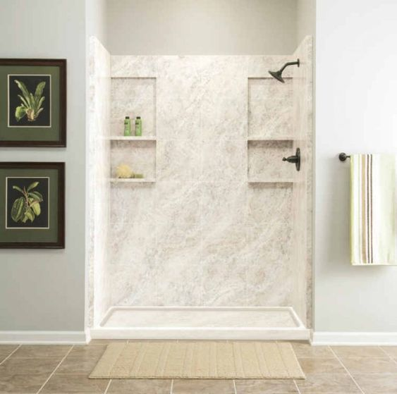 Bathrooms Basement Bathroom And More Cultured Marble Shower Marble