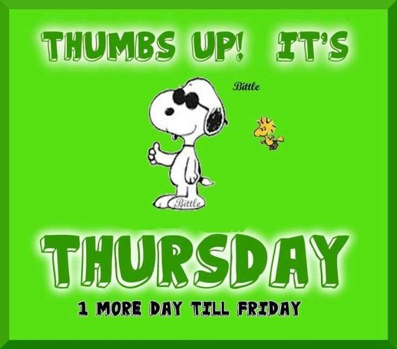 Its Thursday quotes quote snoopy days of the week thursday ...