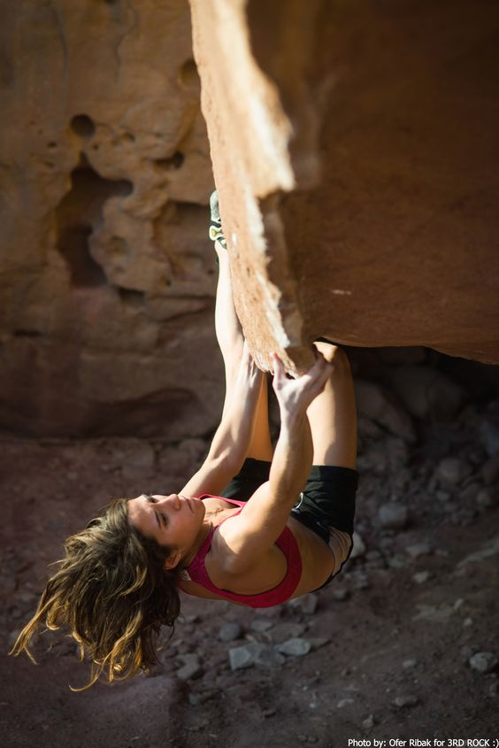 Timna National Park south of Israel . the edge v4\5 . crispy sandstone with great boulder problems and sport routs  Photo Valeri Kremer