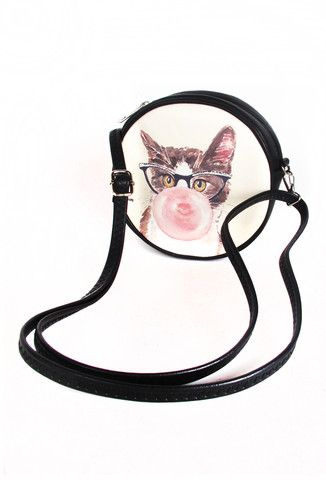 Bubblegum Kitten Cross Body Bag   Patricia Field