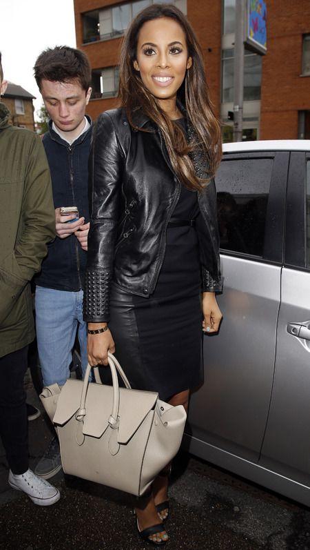 celine uk online shop - Rochelle Humes and her Celine Tie handbag. www.handbag.com ...