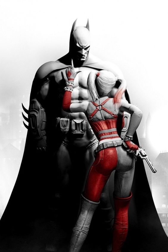 My favourite pic - Batman and Harley Quinn - Arkham City