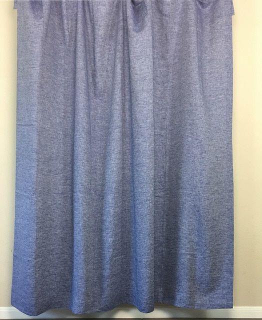 Chambray Denim Linen Shower Curtain Linen Curtains Denim