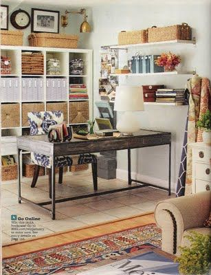 I love this desk and the office baskets.