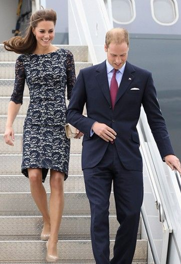 The Duchess in Erdem and Prince William arrive in Canada.
