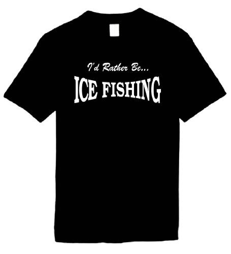 Kids funny t shirts size s i 39 d rather be ice fishing for Ice fishing sweatshirt