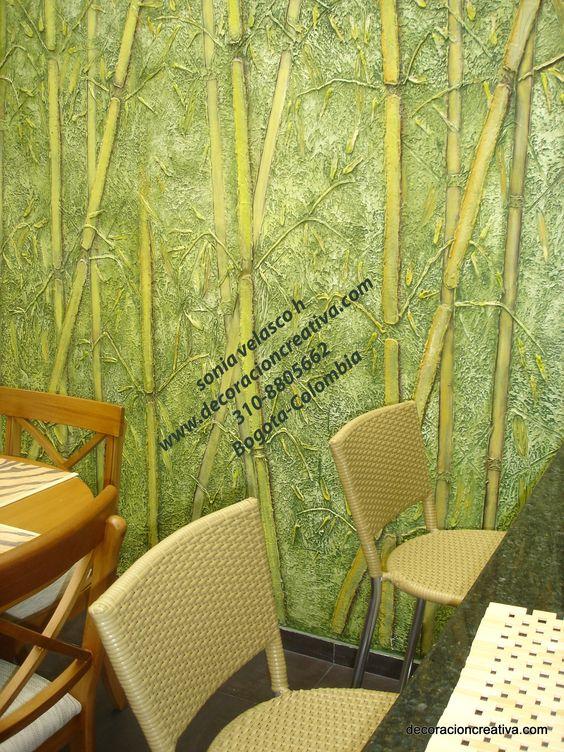 Soniavelasco bambu murales texturas obras de arte - Murales infantiles ...