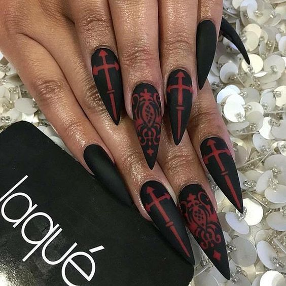 The Best Halloween Nail Designs In 2018 With Images Pumpkin Nails Halloween Nail Designs Stiletto Nails Designs