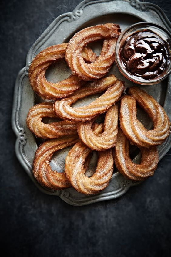 delicious recipe for homemade churros and chocolate