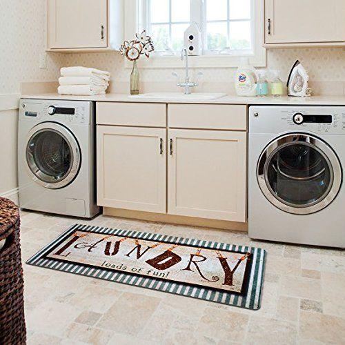 Laundry Room Redo Vintage Style Waterproof Floor Runners Non Skid