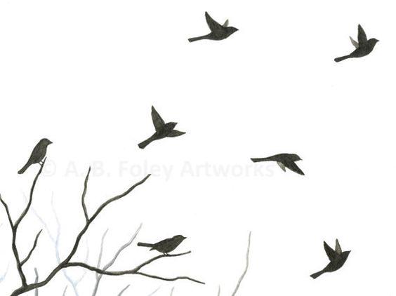 Bird flying away silhouette - photo#13