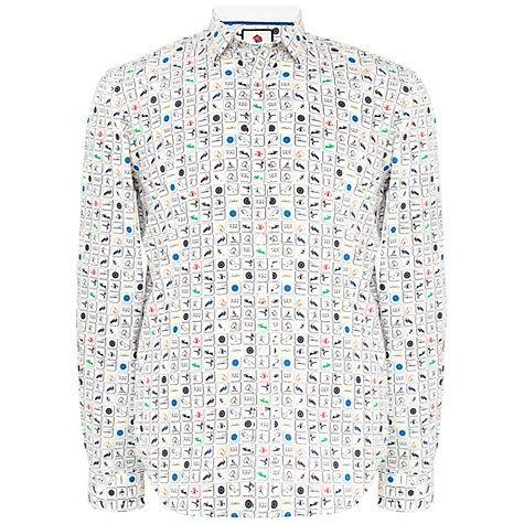 Buy Thomas Pink Tomkins Team GB Print Slim Fit Shirt, White/Multi Online at johnlewis.com