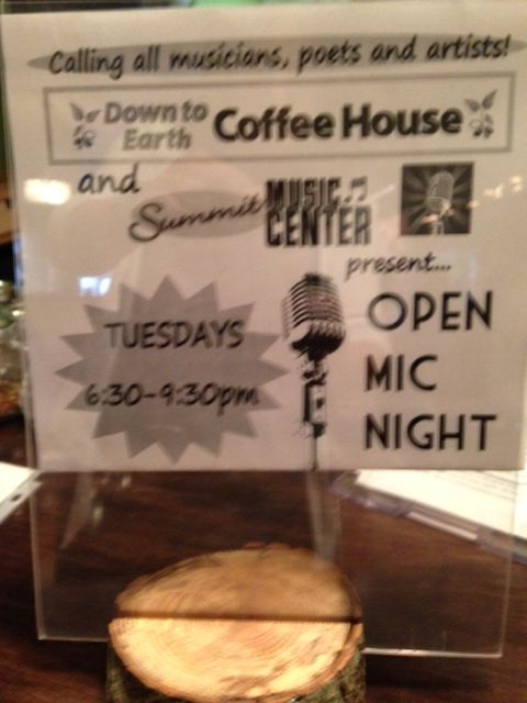 Every Tuesday at 6:30 p.m. to 9:30 p.m. in #glastonbury #connecticut http://www.downtoearthcoffeehouse.com/
